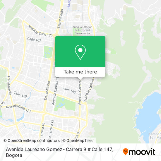 Avenida Laureano Gomez - Carrera 9 # Calle 147 map