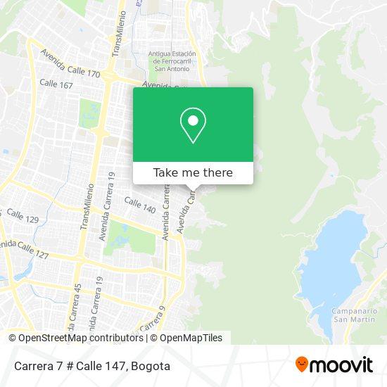 Carrera 7 # Calle 147 map