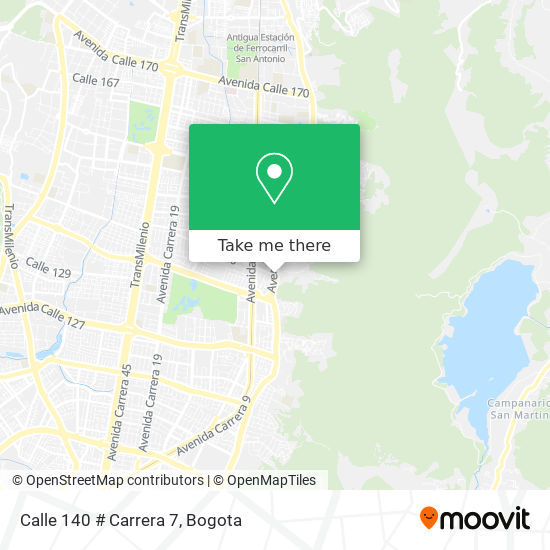 Calle 140 # Carrera 7 map