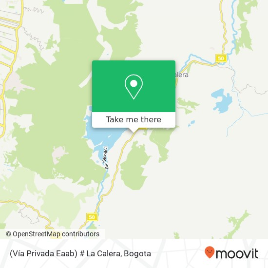 (Vía Privada Eaab) # La Calera map