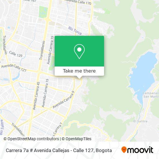Carrera 7a # Avenida Callejas - Calle 127 map