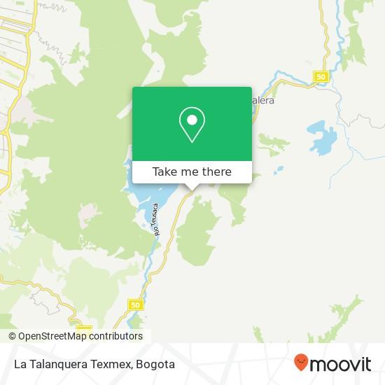 La Talanquera Texmex map