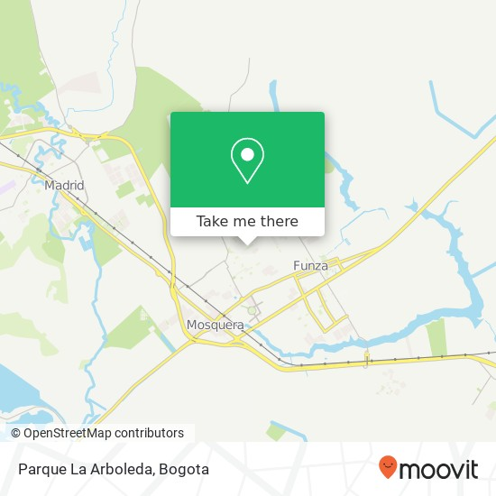 Parque La Arboleda map