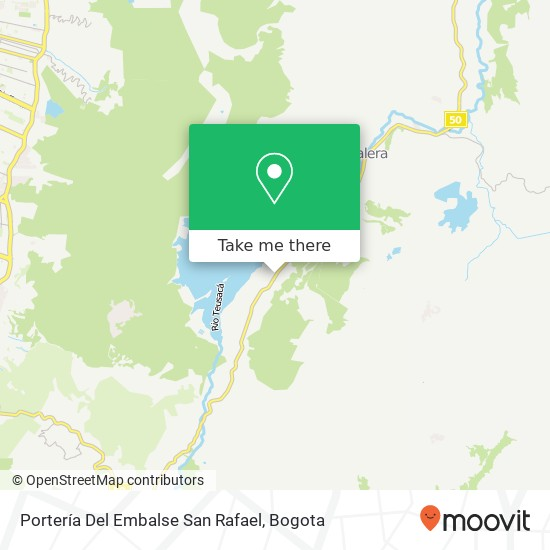 Portería Del Embalse San Rafael map