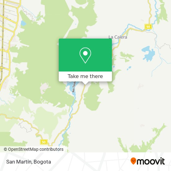 San Martín map