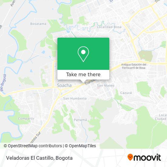 Veladoras El Castillo map