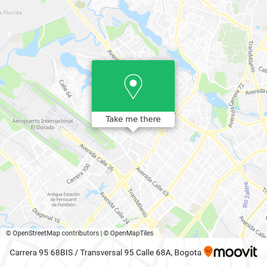 Carrera 95 68BIS / Transversal 95 Calle 68A map