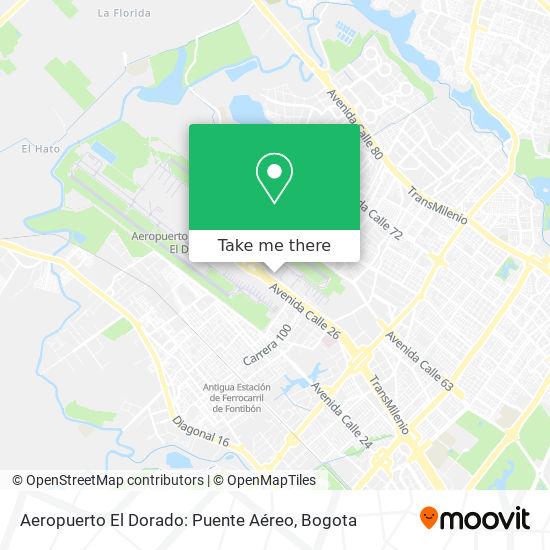Aeropuerto El Dorado: Puente Aéreo map
