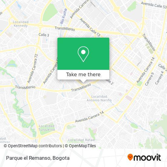 Parque el Remanso map