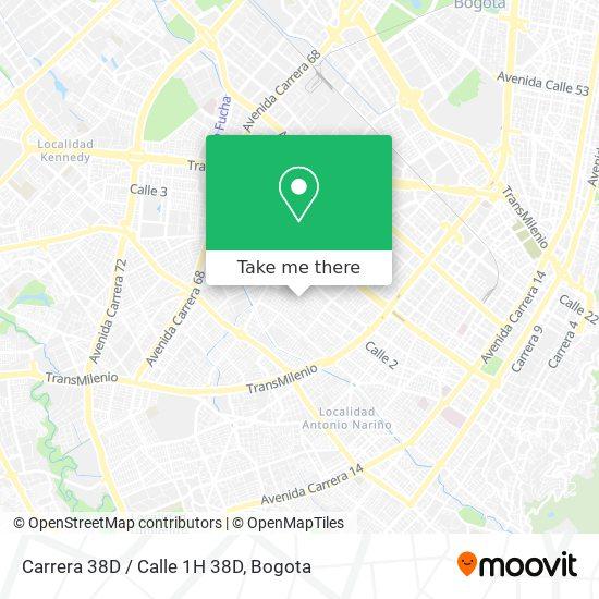 Carrera 38D / Calle 1H 38D map