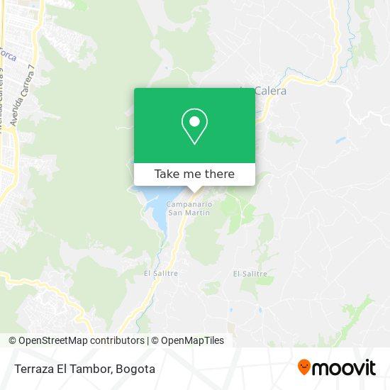 Terraza El Tambor map