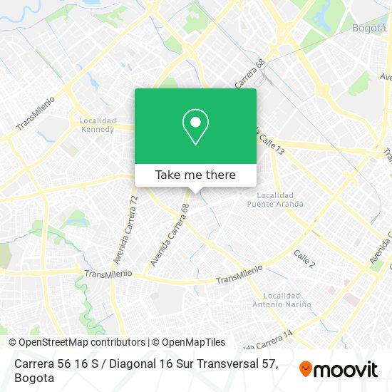 Carrera 56 16 S / Diagonal 16 Sur Transversal 57 map