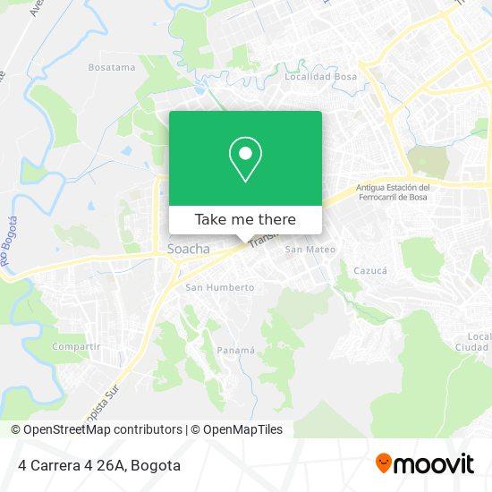 4 Carrera 4 26A map