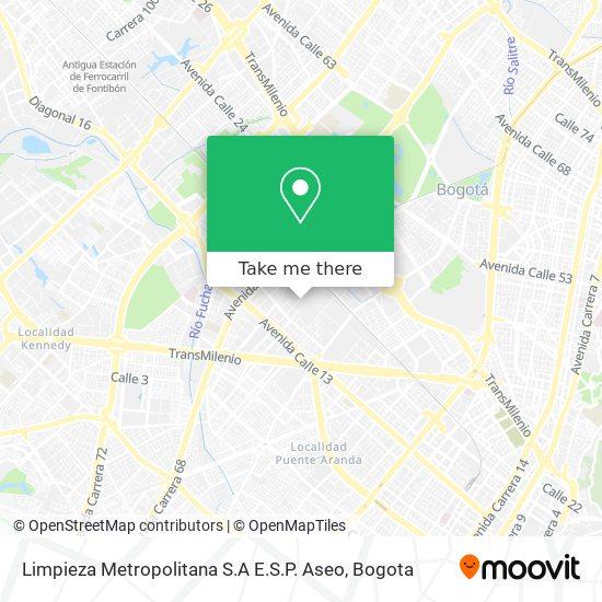 Limpieza Metropolitana S.A E.S.P. Aseo map