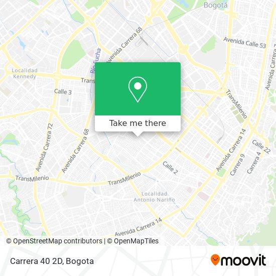 Carrera 40 2D map