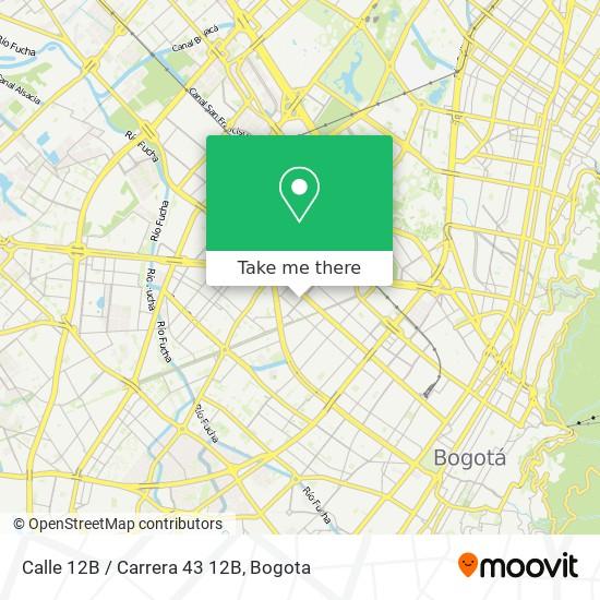 Calle 12B / Carrera 43 12B map
