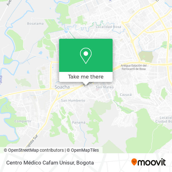 Centro Médico Cafam Unisur map