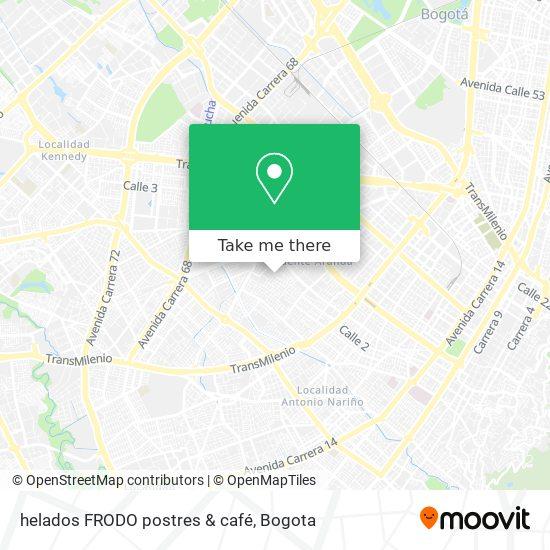 helados FRODO postres & café map