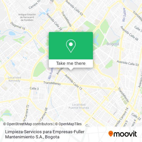 Limpieza-Servicios para Empresas-Fuller Mantenimiento S.A. map