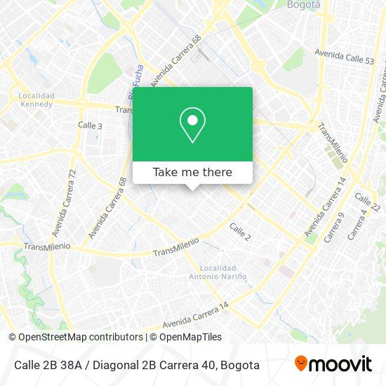 Calle 2B 38A / Diagonal 2B Carrera 40 map