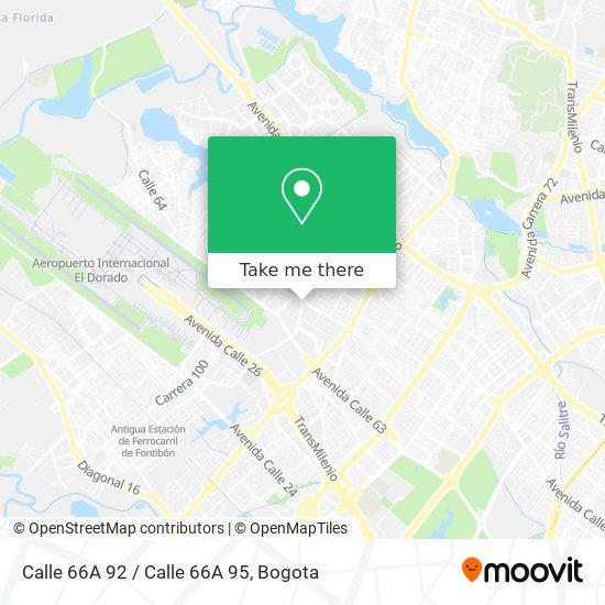 Calle 66A 92 / Calle 66A 95 map