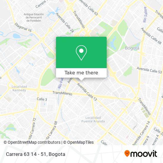 Carrera 63 14 - 51 map