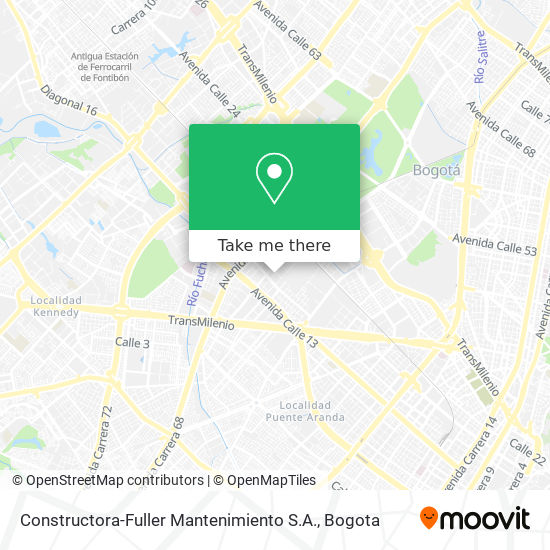 Constructora-Fuller Mantenimiento S.A. map
