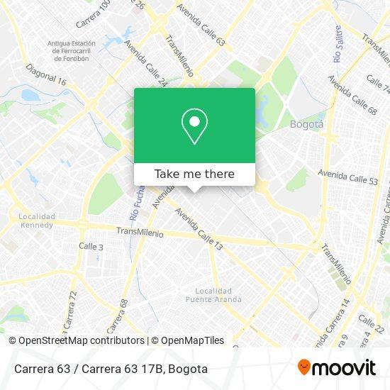 Carrera 63 / Carrera 63 17B map