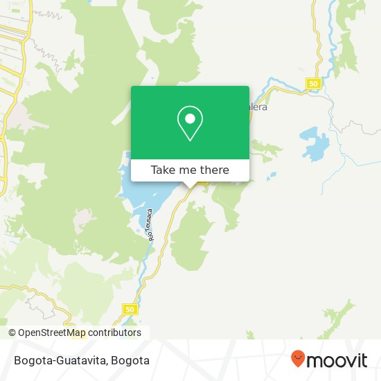 Bogota-Guatavita map