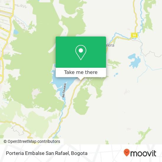 Porteria Embalse San Rafael map