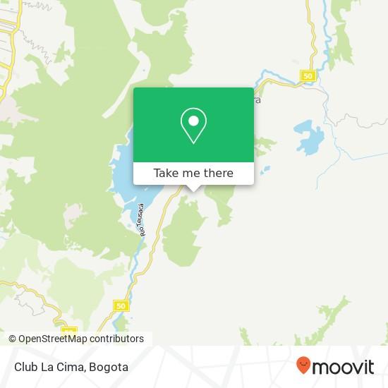 Club La Cima map