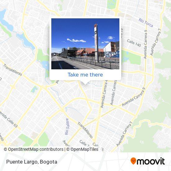 Puente Largo map