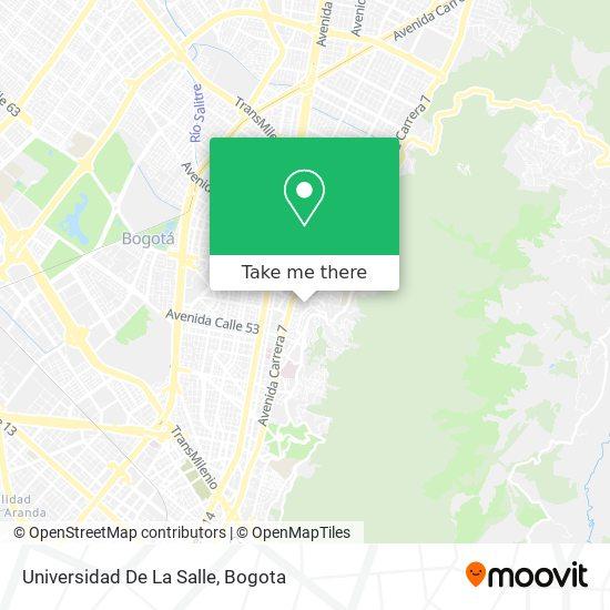 Universidad De La Salle map