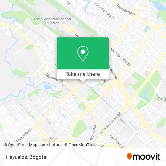 Hayuelos map