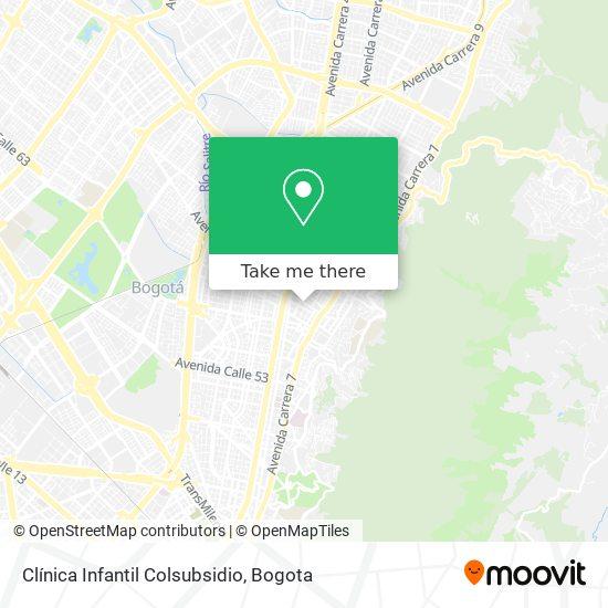 Clínica Infantil Colsubsidio map