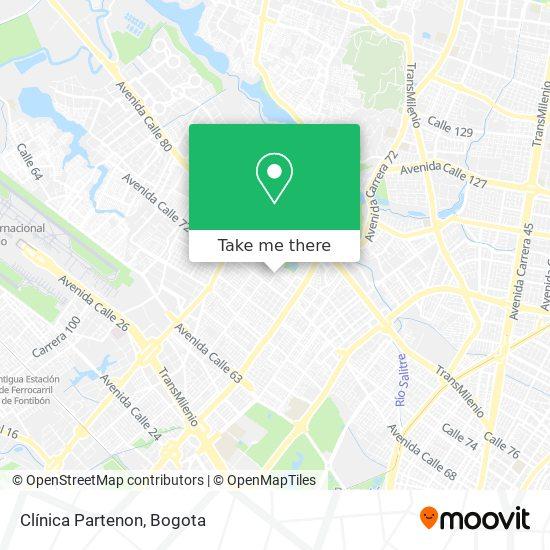 Clínica Partenon map