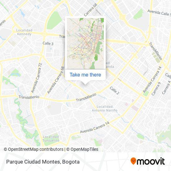 Parque Ciudad Montes map