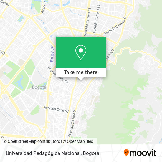 Universidad Pedagógica Nacional map