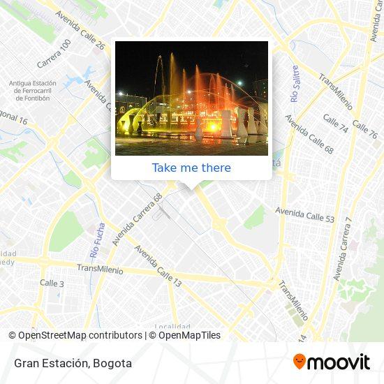 Gran Estación map