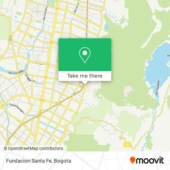 Fundacion Santa Fe map