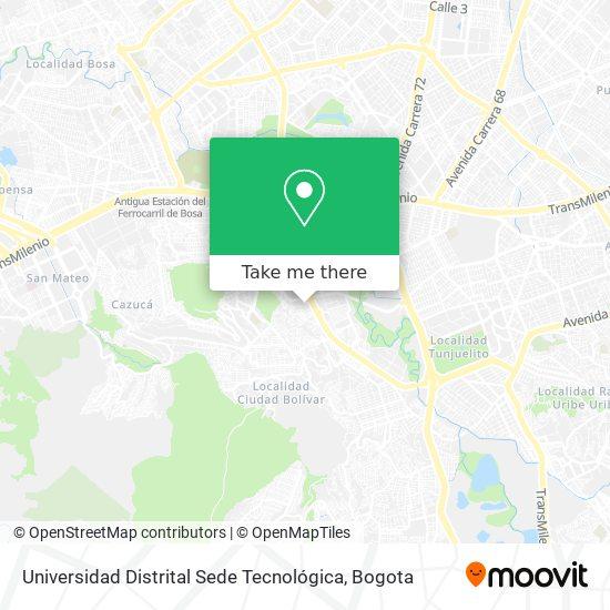 Universidad Distrital Sede Tecnológica map