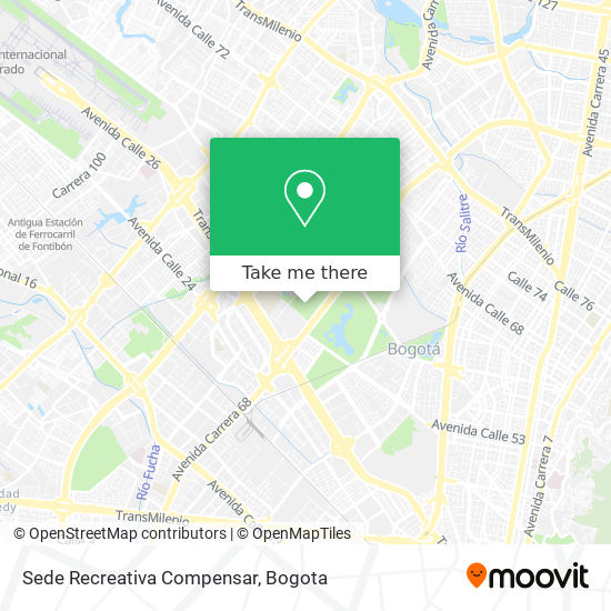 Sede Recreativa Compensar map