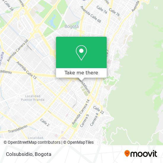 Colsubsidio map