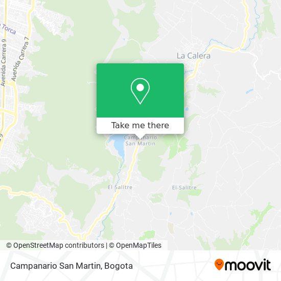 Campanario San Martin mapa