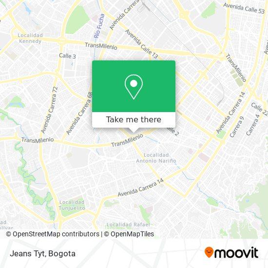 Jeans Tyt map