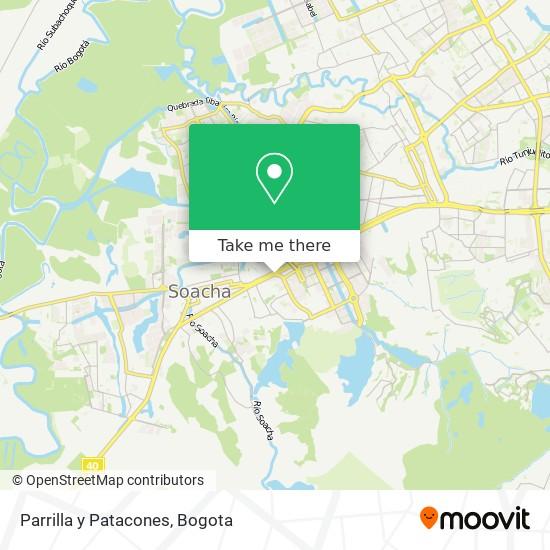 Parrilla y Patacones map
