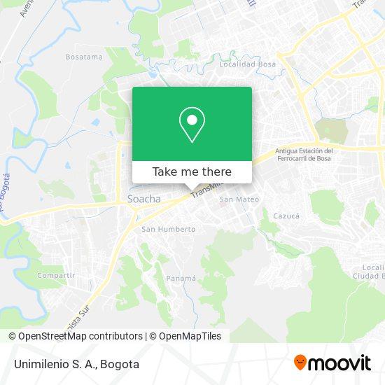 Unimilenio S. A. map