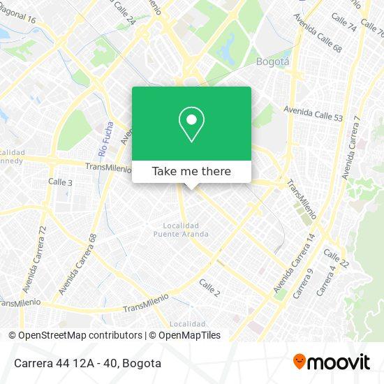 Carrera 44 12A - 40 map