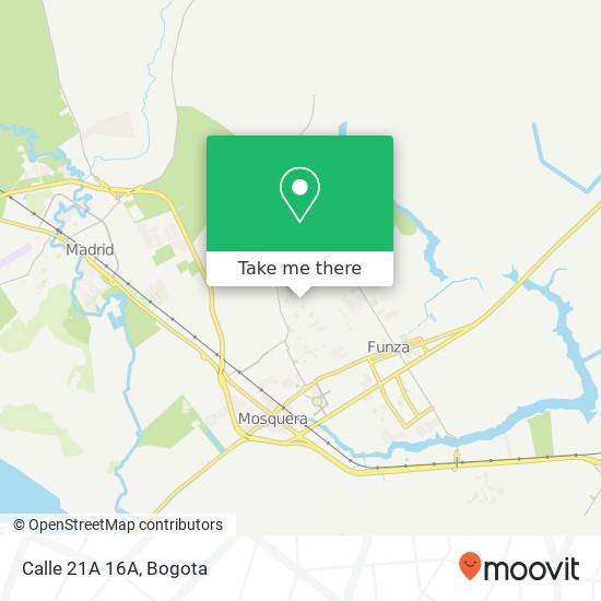 Calle 21A 16A map