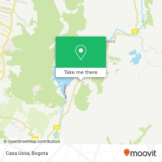 Casa Ussa map